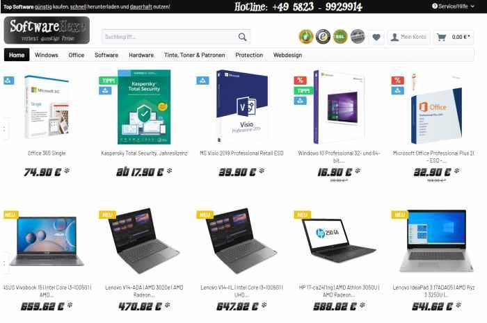 Softwarehexe - Software und Hardware Onlineshop