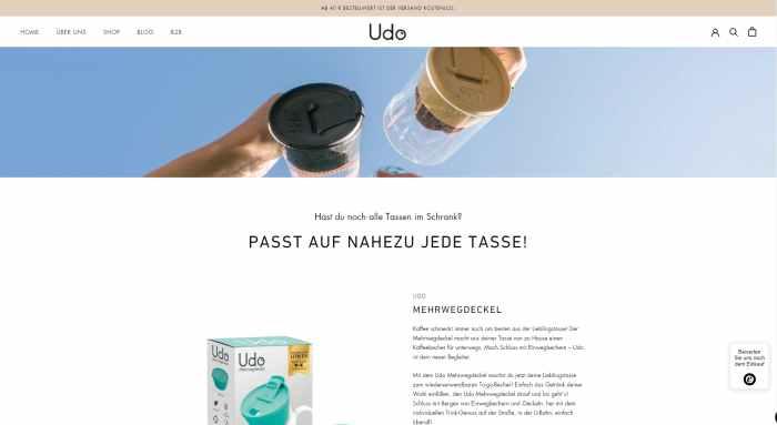 Udo - Verwandle deine Tasse in einen Thermobecher!