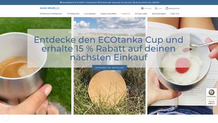 Wasser aktuell - Onlineshop für Trinkflaschen und Lunchboxen