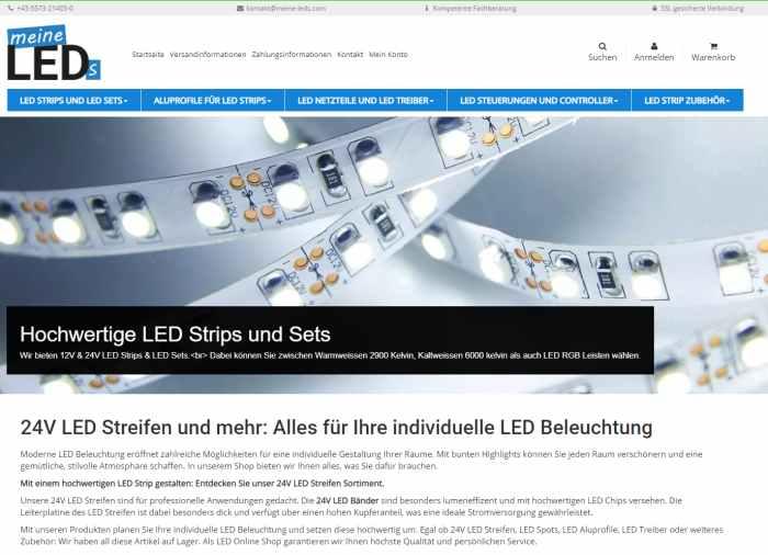 meine LEDs - LED Streifen und Zubehör