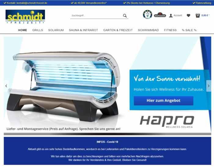 Schmidt-Freizeit - Freizeit Equipment Onlineshop