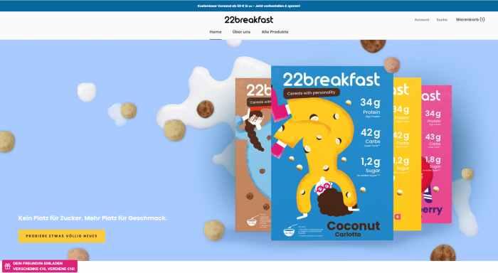 22breakfast - Cerealien Onlineshop